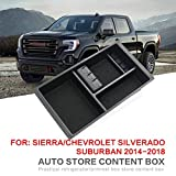 per sostituire Chevy Silverado GMC Sierra Yukon 2014-2018 braccioli Scatola di Moneta di immagazzinaggio del Telefono Center Console Tray