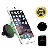 Car Mount Holder, Asscom® Universal MagGrip Air Vent Magnetic Car Mount Holder&Cradle for Apple iPhone 6/6 Plus, iPhone 5S 5C 5 4S 4, Samsung Galaxy S6 S5 S4 S3,Galaxy Note2/3/4,Nexus 5 4 and All Smartphone, p/n:K7