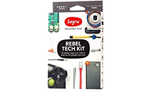 Sugru Mouldable Glue - Rebel Tech Kit - Formable Adhesive Including Storage Tin, Remover Tool, Booklet of Ideas - Innovative Silicone Technology - Holds up to 2 kg