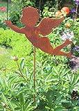 Vosteen Gartenstecker Engel 118cm Metall Rost Gartendeko Edelrost