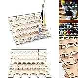 Tutoy 32 Pots En Bois Acrylique Peinture Support Bouteille Support Rack Modulaire Organisateur