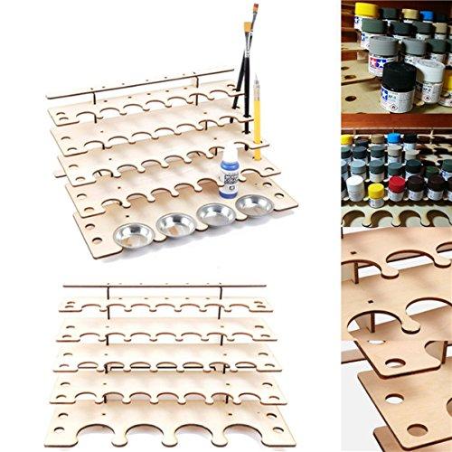 Tutoy 32 Töpfe Holz Acryl Farbe Ständer Flasche Lagerregal Halter Modulare Organizer