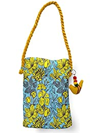 MeSleep Yellow Lilies Canvas Travel Tote/ Sling Bag