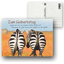 Cartolini Postkarte Karte Sprüche Zitate 15,5 x 11,5 cm Du hast Geburtstag Lets