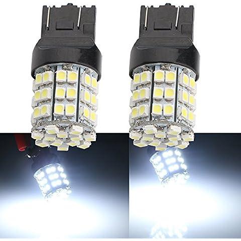 Grandview 2pcs Bianco 74437444na 121054-smd LED Turn Signal Light Bulb 12V lampadina di ricambio T20W21–5W 21W W3x 16q ECE per coda freno Girare Backup Luci di parcheggio - Bmw Coda Lampadina