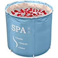 Baignoire pliable pour baignoire et baignoire - Pour adultes, plus épais baignoire de seau en plastique, Baignoire…