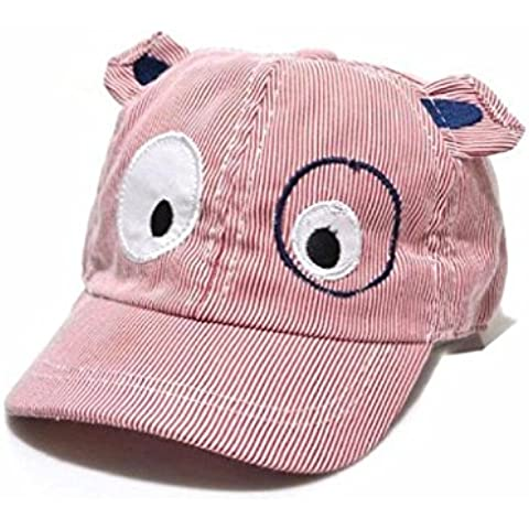 Koly Bebé Sombreros y gorras, Bebé Niños Sombrero de béisbol de Perro, raya de color (Rojo)