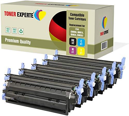 TONER EXPERTE® 5 Premium Toner kompatibel zu HP 124A Q6000A Q6001A Q6002A Q6003A für HP Color Laserjet 1600 1600n 2600 2600n 2600dn 2605 2605d 2605dn 2605dtn CM1015 CM1017 MFP -