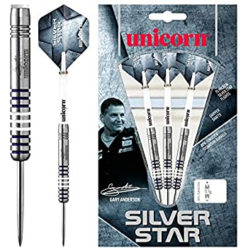 Silver Star James Wade 22g 24g 26g Steel Dart Dartpfeile NEU Unicorn Dart