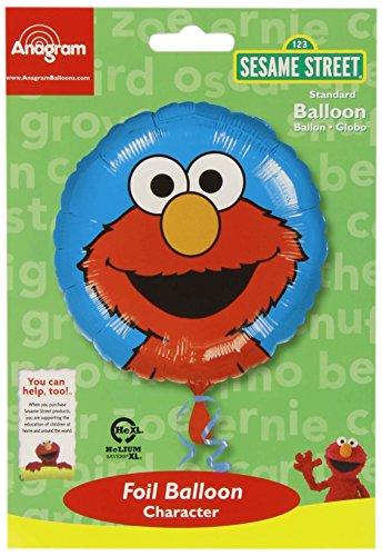Anagram International HX Elmo Portrait Party Balloons, Multicolor (Elmo Party)