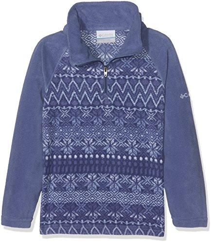 Columbia Mädchen Glacial Sportswear 1/2 Zip Fleece XS Eve Nordic Stripe - Polyester-microfleece Half Zip Pullover