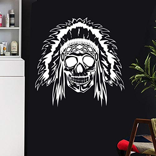 ljjljj Schädel Halloween Poker Wandaufkleber Punk Decal Art Wall Decals Decor Wandbild 58x58cm