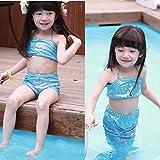 Girl Little Mermaid Tail Bikini Set Swim...