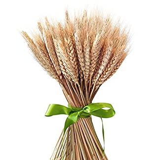 Ramo de hierba seca de Uthome, ramo artificial realista, flores, trigo, tallos artificiales, flores secadas al natural, para decoración de bodas, fiestas, hogar y manualidades, 100 unidades en 2 ramos