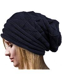 Tefamore Sombrero Mujer de Gorras de Suave de Invierno Cold-Proof de Gorrita 17bc11dbad2