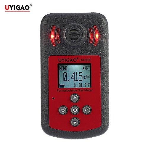 UYIGAO Detector de PPM HTV de Mano Portátil Probador de Formaldehído Digital Tester con Pantalla LCD Sonido y Luz ALarma