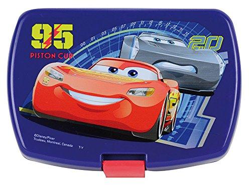FUN HOUSE 005512 Disney Cars Boîte goûter pour Enfant Polypropylène, Bleu, 17 x 13,5 x 6,5 cm