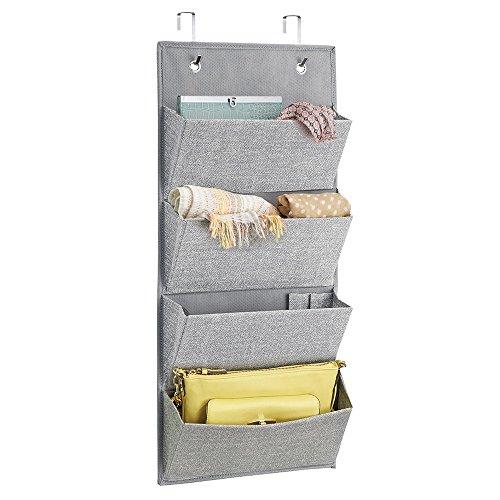 mdesign-fabric-wardrobe-organiser-wall-mounted-or-hang-over-the-door-handbag-grey-hair-accessories-4