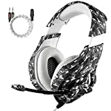 Gaming Kopfh�rer PS4, MillSO Neu K1 Gaming Headset f�r PC PlayStation�4 Xbox one S Mac mit 3,5mm Audio Klinke Y Kabel - Schwarz & Camouflage medium image