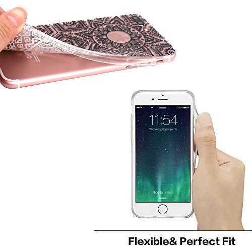 iPhone 7 Plus Hülle, JIAXIUFEN TPU Silikon Schutz Handy Hülle Handytasche HandyHülle Etui Schale Schutzhülle Case Cover Tasche Etui für iPhone 7 Plus (5,5 Zoll) - Pink White Tribal Mandala Dream Catch Color21
