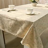 MQZM Aggiungere atmosfera accessori per la casa Floreali freschi coperta per tovaglie tovaglioli biancheria da tavola il cotone,60*60 - Fiore Di Seta Accenti