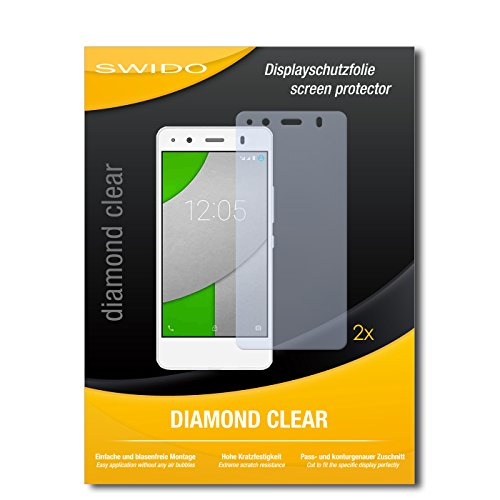 2 x SWIDO® Bildschirmschutzfolie BQ Readers Aquaris A4.5 Schutzfolie Folie
