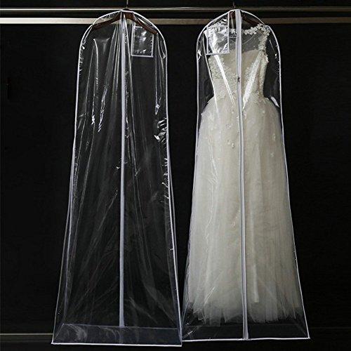 QEES Hochzeitskleid-Kleid mit Innen-Reißverschluss-Tasche-Fall yfz13, Rot (160x 120cm),...