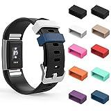 MoKo Fitbit Charge 2 Fasteners Ring, 10 farbige Ersatz Silikon Befestigungselemente Verschlusssicherung Verbindungselement für Charge 2 Zur Herzfrequenz und Fitnessaufzeichnung, Mehrfarbig B