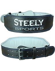 Steely-Sports Ceinture à poids de levage Taille: S-M-L-XL-XXL // Bodybuilding Equiment
