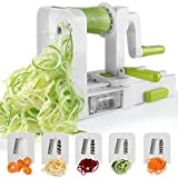 Spiralizer 5-Blade Vegetable Spiralizer,Sedhoom Foldable Spiral Slicer,Best Zucchini Noodle & Veggie Pasta
