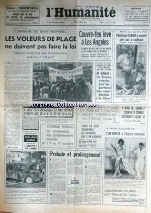humanite-l-du-19-08-1965-grece-tsirimokos-et-le-nouveau-gouvernement-affaire-de-saint-raphael-couvre