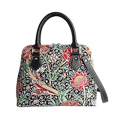 Signare Tapestry Women Top Handle Handbag/Shoulder Bag/Cross Body Bag William Morris the Cray Flower (CONV-CRAY)