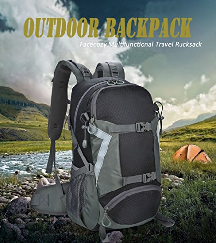 facecozy Herren & Damen Outdoor Sport Rucksack groß Kapazität atmungsaktiv Unisex Tasche Multifuctional Wandern Klettern Reisen Blau