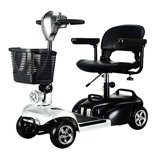 ZGYQGOO Elektromobil 4-Rad-Mobilitätsroller Mobiler Motorroller für Erwachsene bis 8 km/h, Reichweite 35 km