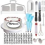 Forniture per la decorazione di torte professionale kit per decorazione cupcake pasticceria | baking Supplies | Piatto rotante supporto, glassa e set di punte, spatola e frullatore