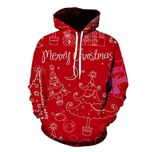 LIMITA Weihnachten Pullover Plusgrößen-Hoodie des Mode-Paares Weihnachten 3D Druck Langarm Sweatershirt Weihnachten Tops