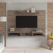 Artely Essence Wall Panel for 60 inch TV, Cinnamon Brown, W 180 cm x D 29 cm x H 124.5 cm