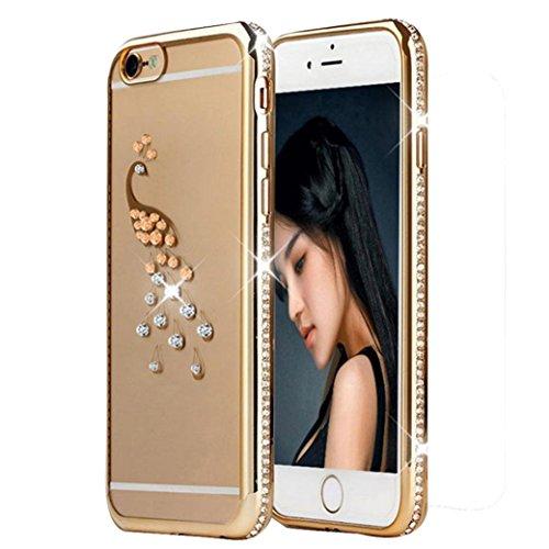 Ouneed® Kristall Diamant Plating Klar Gummi weicher TPU Hülle Schutzhülle für iPhone 6 Plus / 6S Plus Case Cover (A) A