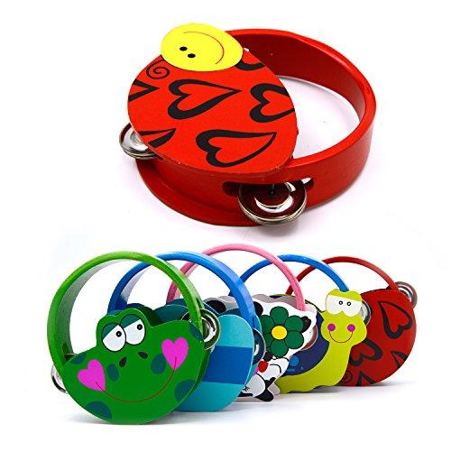 Fumetto colorato Handbell tamburello Clap tamburo bambini giocattolo quantità 1 casuale Style