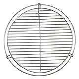 BONUS ET SALVUS TIBI (BEST) Mejor barbacoa redonda giratoria - Plata, 50 cm