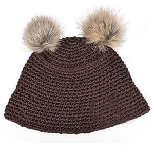 Sertissage chaudes boule Downy tricoté des chapeaux de femmes