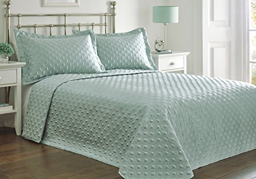 double-bed-regent-duck-egg-bedspread-set-throw-over-pillow-shams-quilted-retro-geometric-circle-diam