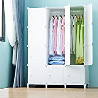 PREMAG Wardrobe Made of Plastic Modules for Storage of Clothes, Accessories, Toys, Towels, or Books. For Home or Office(12 cubes)
