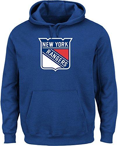 Cup Stanley Rangers New York (NHL Herren Filz Tek Patch Hooded Fleece Pullover Small New York Rangers)