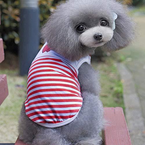 DOGCATMM Gilet per Cani Gatti per Cani per Cani di Piccola Taglia Pug Chihuahua Vestiti Estate Coppia Animali Cani Vestiti Primavera Pet Puppy Costume