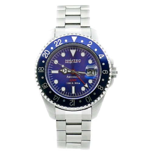 Nautec No Limit Herrenarmbanduhr Deep Sea DS GMT/STBL