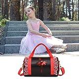 starter Mädchen-Tanz-Tasche, Kind-Ballett-Tasche Kreuz-Tanz-Tasche, personalisierte Umhängetaschen-Kind-lateinische Tanz-Tasche mit Tanz-Rock-Dekoration.