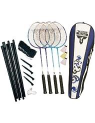 Fighter Playset 2 Badminton 2 Player Set - Blue/Black/White, 27 Inch