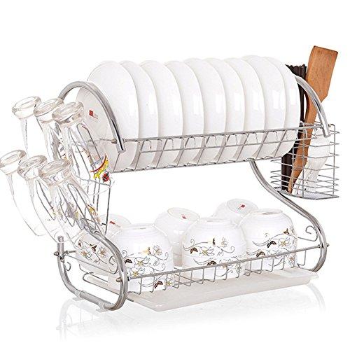 Abnehmbare Küchenregal Gewürzregal Rack Stackable Organizer Chickwin Toll für die Organisation Ihrer Gewürze Würze für Küchenschränke, Handwerk, Make-up, Storage Rack (B)