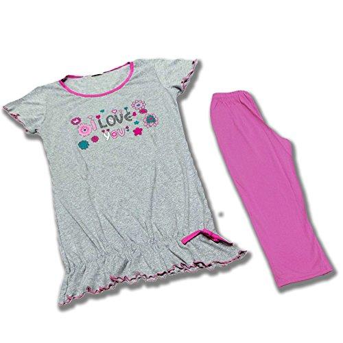 Pigiama Donna linea Dolce Tamy maniche corte e pantaloni capri ***BRIOSO E GIOVANILE*** Pink